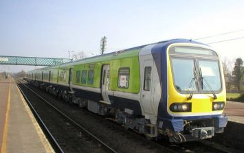 A person has died on a railway track in Antrim