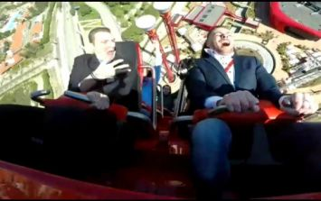 Man and pigeon collide on high-speed rollercoaster and it's all caught on video
