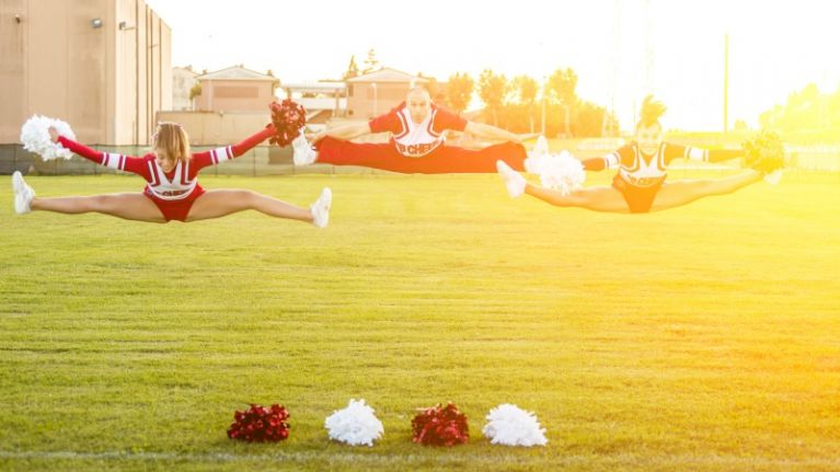 Leave the pom poms at home... cheerleading is serious business in Ireland