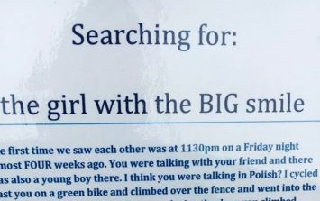 Are YOU the 'girl with the big smile'? If so, this man would like to meet you