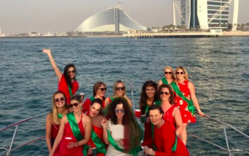 This bride-to-be had a Mayo themed hen in the middle of Dubai