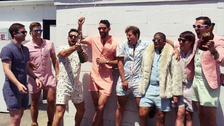 The playsuit for men is back and just in time for summer