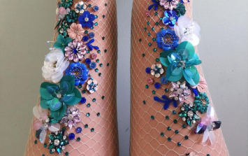 These FAB embellished fishnets are the perfect festival accessory