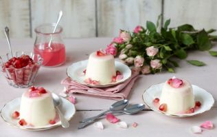 This rose and vanilla Panna Cotta recipe is perfect for summer