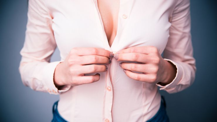 Study shows interesting results about cleavage and the workplace