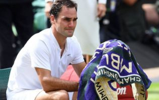 A true champion: Roger Federer breaks down when he spots his children