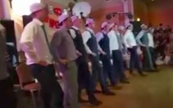 Wexford groom and his friends perform an EPIC wedding dance for his bride