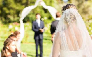 This may be the most incredible wedding aisle we've ever seen