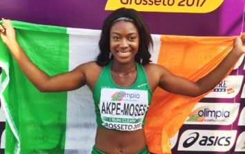 It's GOLD for Ireland! The country has a brand-new 100m sprint superstar