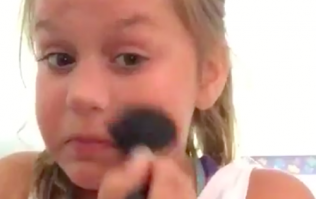 The hilarious reason this little girl's makeup tutorial has gone viral