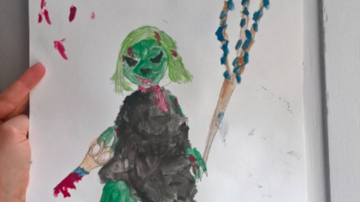 The internet can't get enough of this little girl's superhero drawing