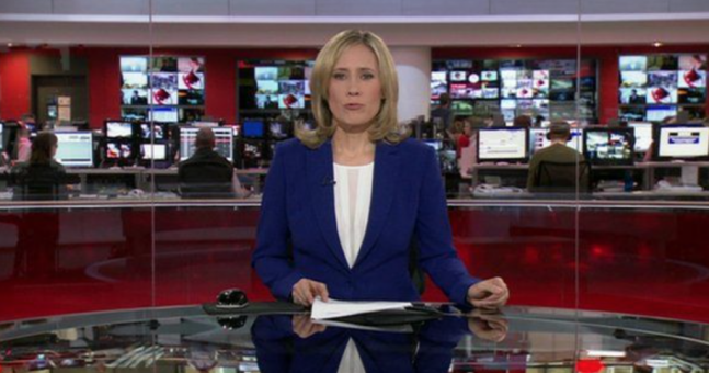 The woman whose boobs were shown on BBC news has reacted