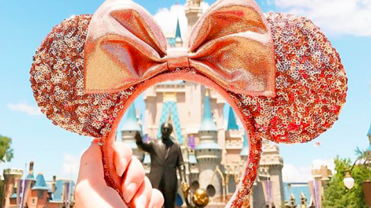 Disney have just released these dazzling rose gold Minnie Mouse ears