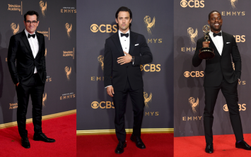 The Emmys saw gents pour their curves into these brave style choices