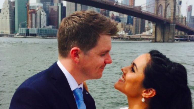Today FM's Paula MacSweeney elopes to NYC with longtime love Aidan