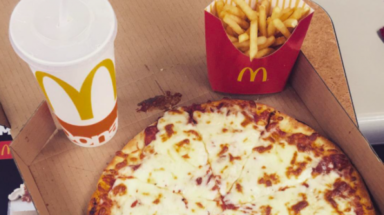 McDonald's has started selling pizza and we're frankly pretty delighted