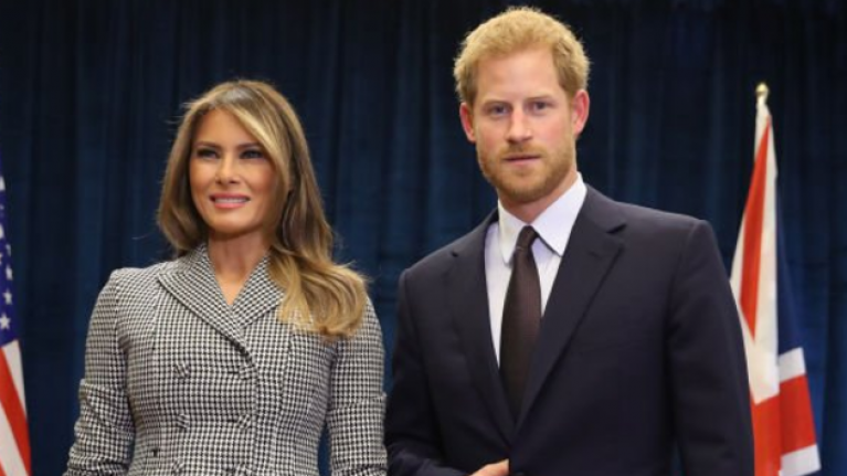 Everyone is talking about Prince Harry's hand in this pic with Melania Trump