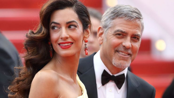 George and Amal Clooney spotted with the twins for the first time