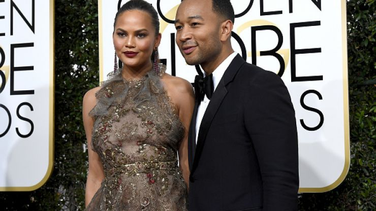 Chrissy Teigen's Golden Globes makeup included a product the internet is going CRAZY for