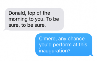 Leaked messages between Donald Trump and Michael Flatley emerge
