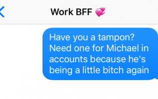 8 texts everyone's guilty of sending their colleagues during work