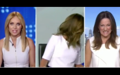 Australian news anchor has a complete b*tch fit when her colleague appears wearing white