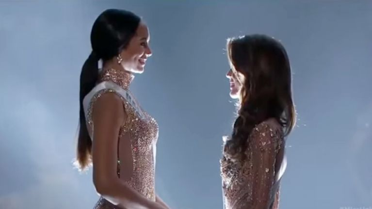 This is the moment France's Iris Mittenaere was crowned Miss Universe
