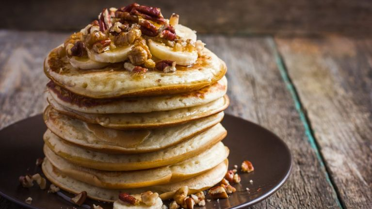 These flour less pancakes are the ultimate easy breakfast treat her these flour less pancakes are the ultimate easy breakfast treat ccuart Image collections