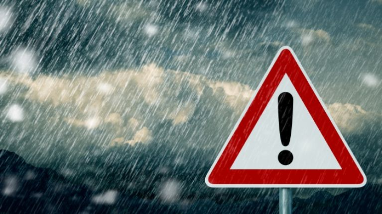 A weather warning has been issued for 10 counties and it sounds SO grim