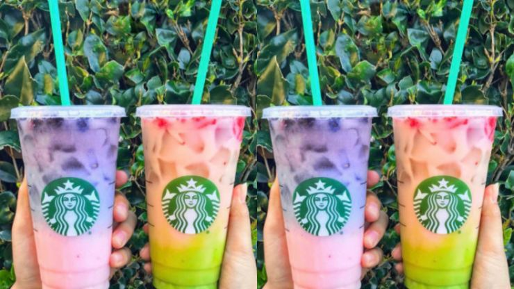 The latest 'secret menu' drink from Starbucks is gorgeous (but FULL of sugar)