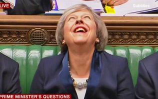 Prime Minister Theresa May's bizarre 'other-worldly' laugh is freaking people out