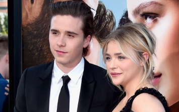 Brooklyn Beckham and Chloe Moretz were spotted at the Leinster game