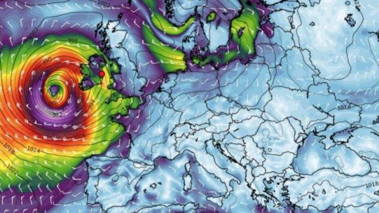 Met Éireann has shared another warning regarding 'Storm Brian'