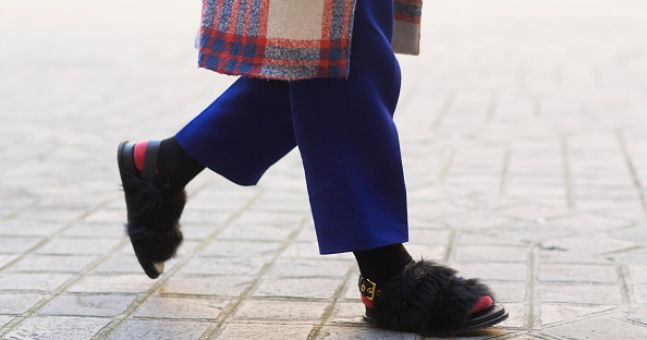 Who would have guessed? Socks and sandals are now all the rage
