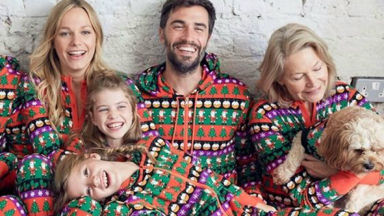 Family Christmas Pajamas Including Dog.Now Your Entire Family Can Wear Matching Onesies Including