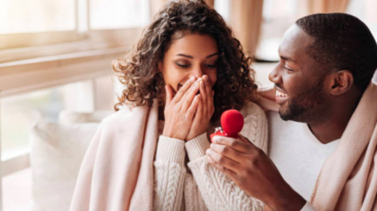 This phone cover is an engagement ring box that records proposal reactions