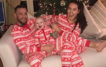 McGregors wear matching onesies as Conor Jnr enjoys first Christmas