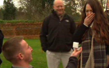 Couple get engaged on live TV while waiting to see Harry and Meghan