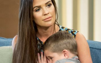 People think Danielle Lloyd allowed her infant son to wear a 'dangerous' gift