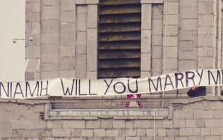 The romance! This man created a proposal like no other in Cork at the weekend
