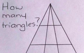 Twitter cannot decide how many triangles are in this picture