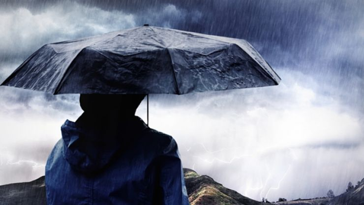 Met Eireann just issued a yellow weather warning for two counties