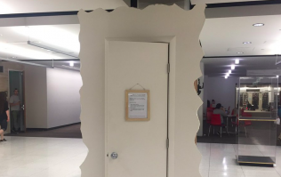 One college has introduced a 'Crying Closet' for stressed out students