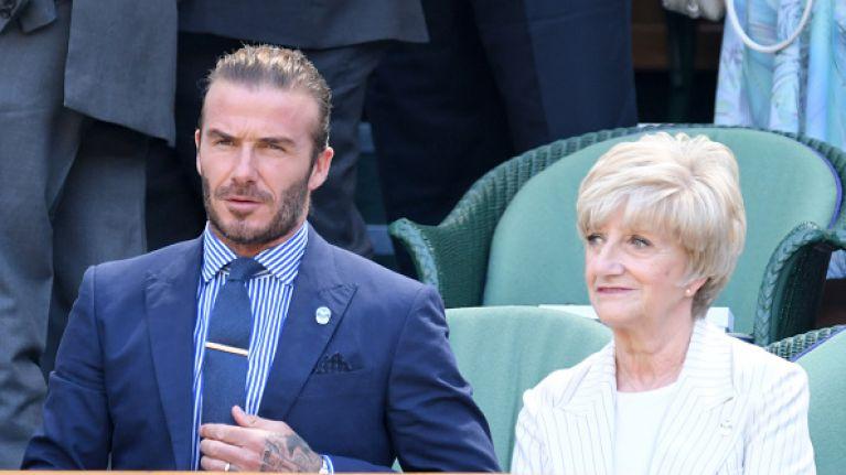 MORTO! David Beckham sent his mum a flirty text by accident