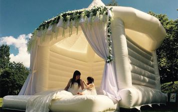 You can now order bespoke wedding bouncy castles for your big day