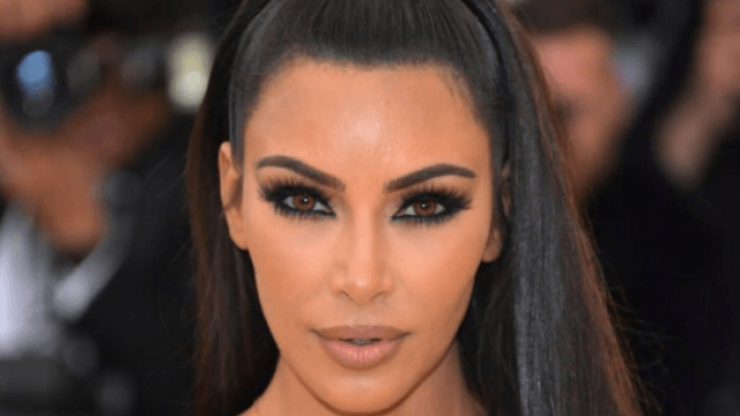 This close-up of Kim shows just how much make-up you need for the Met Gala