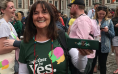 After the Eighth Amendment was repealed, this lady began to hand out After Eight chocolates