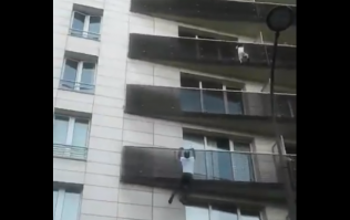 Man praised online after he climbs 4 storeys to save toddler dangling from balcony