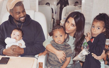 Kim Kardashian just posted the cutest picture ever of Saint and Chicago