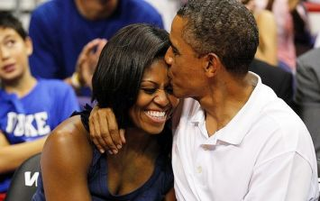 Michelle Obama posts pic of her and Barack on their wedding day... and OMG swooning